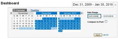 Google Analytics - change date range