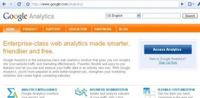 Google Analytics login page